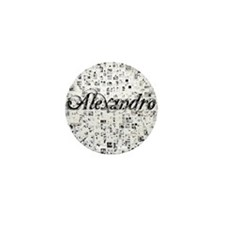 Alexandro, Matrix, Abstract Art Mini Button