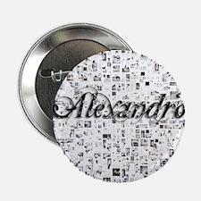"""Alexandro, Matrix, Abstract Art 2.25"""" Button"""