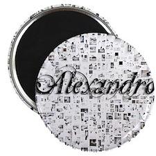 Alexandro, Matrix, Abstract Art Magnet