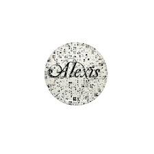 Alexis, Matrix, Abstract Art Mini Button