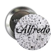 "Alfredo, Matrix, Abstract Art 2.25"" Button"