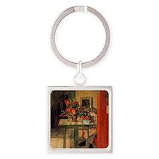 Carl Larsson Square Keychain