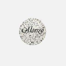 Alonzo, Matrix, Abstract Art Mini Button