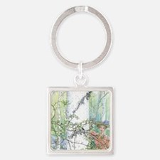 spring by Carl Larsson Square Keychain