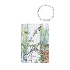 spring by Carl Larsson Keychains