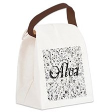 Alva, Matrix, Abstract Art Canvas Lunch Bag