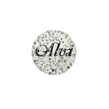 Alva, Matrix, Abstract Art Mini Button