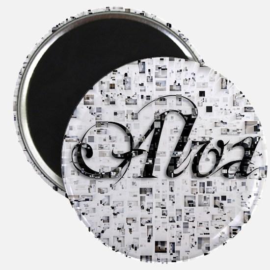 Alva, Matrix, Abstract Art Magnet