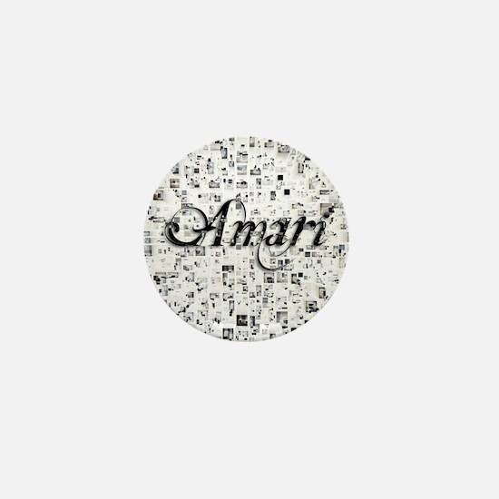 Amari, Matrix, Abstract Art Mini Button