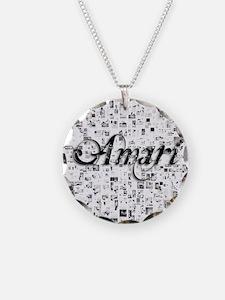 Amari, Matrix, Abstract Art Necklace
