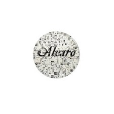Alvaro, Matrix, Abstract Art Mini Button