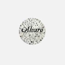 Alvaro, Matrix, Abstract Art Mini Button