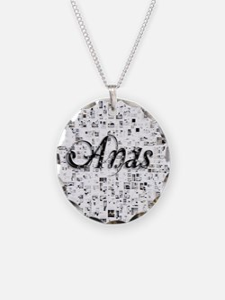 Anas, Matrix, Abstract Art Necklace