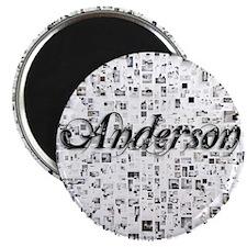 Anderson, Matrix, Abstract Art Magnet
