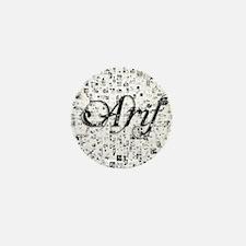 Arif, Matrix, Abstract Art Mini Button