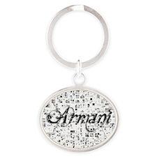 Armani, Matrix, Abstract Art Oval Keychain