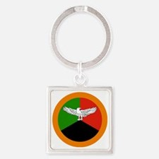 2000px-Roundel_of_Zambia Square Keychain