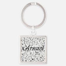 Armani, Matrix, Abstract Art Square Keychain