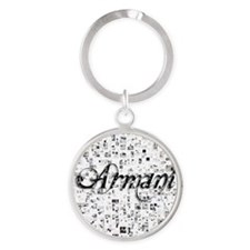 Armani, Matrix, Abstract Art Round Keychain