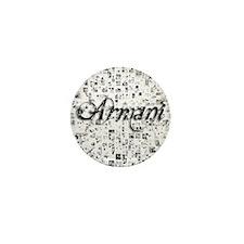 Armani, Matrix, Abstract Art Mini Button