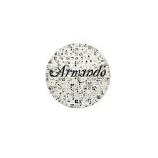 Armando, Matrix, Abstract Art Mini Button