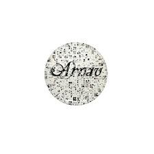 Arnav, Matrix, Abstract Art Mini Button
