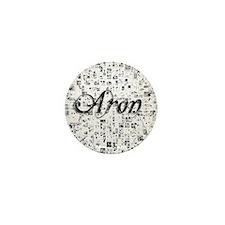 Aron, Matrix, Abstract Art Mini Button