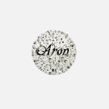 Aron, Matrix, Abstract Art Mini Button