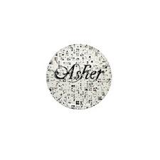 Asher, Matrix, Abstract Art Mini Button