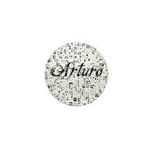 Arturo, Matrix, Abstract Art Mini Button
