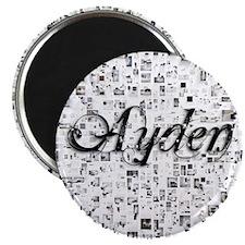 Ayden, Matrix, Abstract Art Magnet