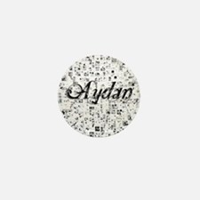 Aydan, Matrix, Abstract Art Mini Button