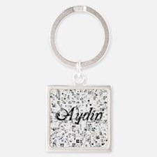 Aydin, Matrix, Abstract Art Square Keychain