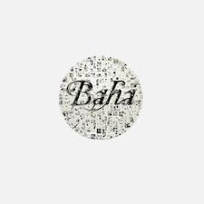Baha, Matrix, Abstract Art Mini Button