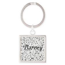 Barney, Matrix, Abstract Art Square Keychain