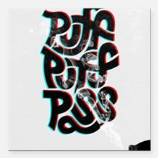 "puff puff pass Square Car Magnet 3"" x 3"""