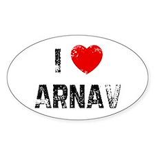 I * Arnav Oval Decal