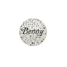 Benny, Matrix, Abstract Art Mini Button