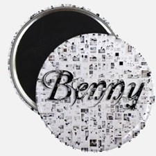 Benny, Matrix, Abstract Art Magnet