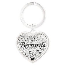Bernardo, Matrix, Abstract Art Heart Keychain