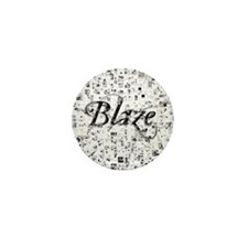 Blaze, Matrix, Abstract Art Mini Button