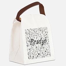 Bradyn, Matrix, Abstract Art Canvas Lunch Bag