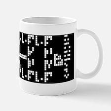 Binary Crop Circle Code UFO Bumper Stic Mug