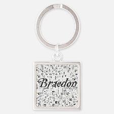 Braedon, Matrix, Abstract Art Square Keychain