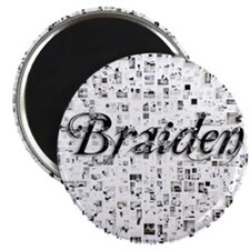 Braiden, Matrix, Abstract Art Magnet