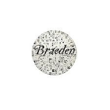Braeden, Matrix, Abstract Art Mini Button