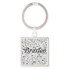 Braxton, Matrix, Abstract Art Square Keychain