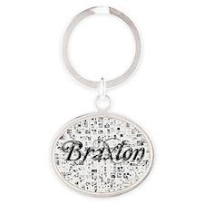 Braxton, Matrix, Abstract Art Oval Keychain