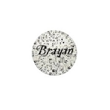 Brayan, Matrix, Abstract Art Mini Button