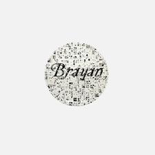 Brayan, Matrix, Abstract Art Mini Button